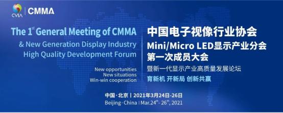 中国电子视像行业协会Mini/MicroLED显示产业分会于3月25日召开  第1张
