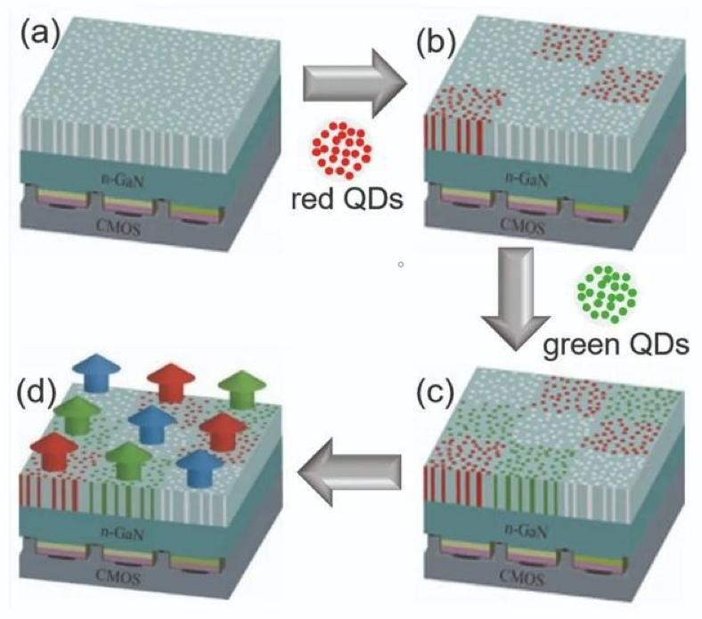 在纳米孔中插入量子点可制备高效可靠的MicroLED  第5张